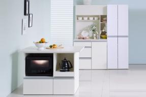[패키지]크리미 광파오븐 아일랜드 식탁 1200+키큰틈새수납장 600+광파 주방수납장세트 (다용도형)/