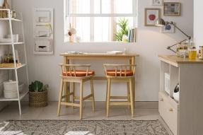 바게트 원목 테이블 세트(바체어형)/