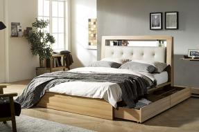 멀티LED 침대(Q)(에코필 7zone 텐셀 라텍스 독립매트리스)/