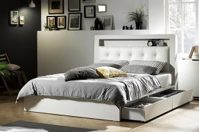 멀티LED 침대(K)(에코필 7zone 텐셀 라텍스 독립매트리스)/