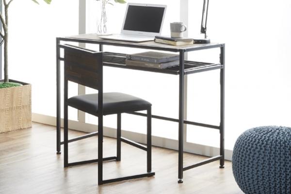하리오 빈티지 원목 철제 책상 의자세트