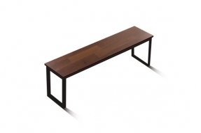 인디 스틸 멀바우 테이블 벤치 1600/