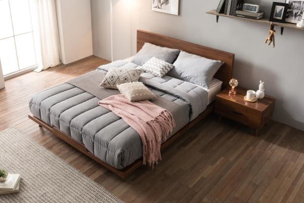 인디 멀바우 평상형 침대 Q (매트별도)