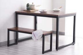 네드 멀바우 스틸 테이블 1800 세트(벤치 1ea)/