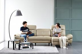 베니스 이태리 천연면피 가죽 헤드틸팅 4인 소파/